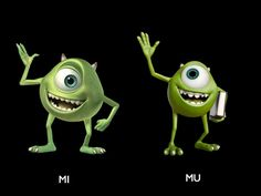 Young Mike and Old Mike from Monsters University- In the Monsters University bonus features you can also learn what it was like for animators to make these two look 18 years younger. Pretty tough for a character that is essentially a giant eyeball with legs.