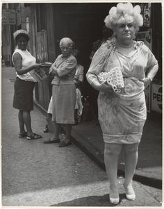 Leon Levinstein Street Scene:Woman in Blonde Wig and Tight Dress, New York,City,1960's