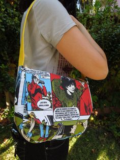 UNIQUE COMIC Bag with yellow handle. Colorful Comic by BellyPork, €26.00