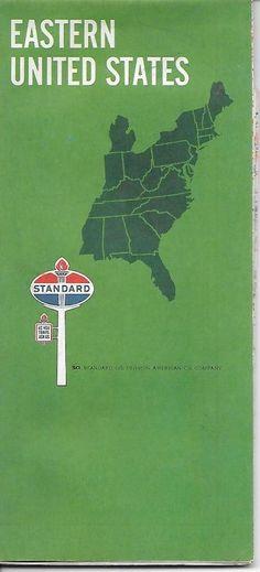 Standard Oil Wisconsin US Vintage Road Map BK Standard Oil - 1967 road map us
