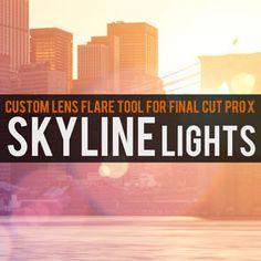 Final Cut Pro X EFFECT Skyline Lights - Custom Lens Flare Tool