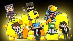 Minecraft YouTubers speed paint by ~triggerdog on deviantART