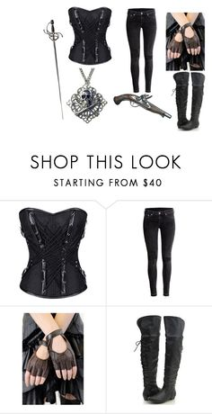 """""""''She's a pirate''"""" by shenyra ❤ liked on Polyvore featuring H&M"""