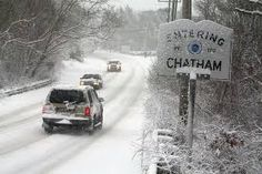 Chatham, MA roads in winter