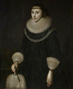 Portrait of a Lady with a Fan British School Birmingham Museums Trust Birmingham Museum, British Schools, 17th Century Art, London Museums, Art Uk, Black Ribbon, 500 Piece Puzzles, Heritage Image, Beautiful Paintings