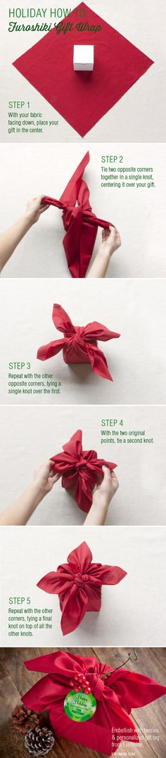 Use fabric to wrap a gift (aka an old shirt). | 27 Clever Gift Wrapping Tricks For Lazy People