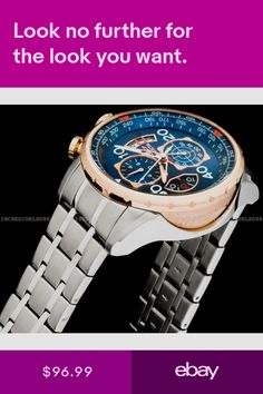 Invicta Wristwatches Jewelry & Watches #ebay Gold And Silver Bracelets, Wristwatches, Chronograph, Bracelet Watch, Jewelry Watches, Rose Gold, Ebay, Men, Accessories