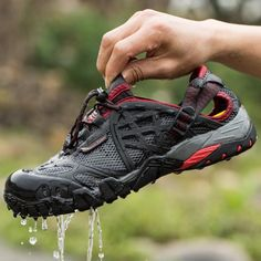 Department Name: AdultAthletic Shoe Type: Hiking ShoesClosure Type: Lace-UpLining Material: SyntheticUpper Material: Mesh (Air mesh)Brand Name: ifrichRelease Date: Fall2016Gender: MenOutsole Material: RubberFit: Fits true to size, take your normal sizeShoe Width: Medium(B,M)Level Of Practice: ProfessionalFeature: BreathableInsole Material: PUModel Number: Trekking Sandals Men 058Color: Gray/Black Mens Outdoor Breathable Hunting Boots ShoesSeason: Spring/Summer Trekking Shoes Summer ...