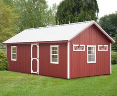 Amish Red A-frame Chicken Coop - 12 x 24 - Large Chicken Coops - Bird Supplies - Pets & Animals