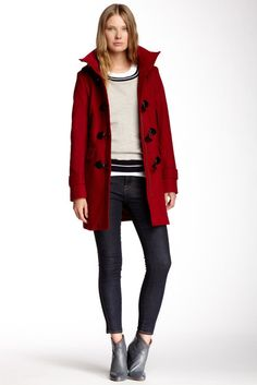 Toggle Front Wool Coat