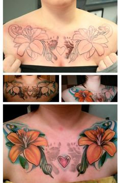 like the idea of this tattoo would change a few things though future children tattoo chest #tattoo