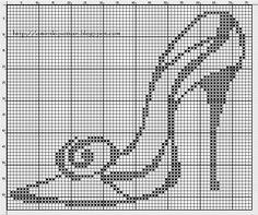 chaussure - shoes - escarpin - point de croix - cross stitch - Blog : http://broderiemimie44.canalblog.com/