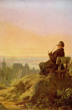 Carl Spitzweg Resting on the Vine - Carl Spitzweg painting gallery, painting Authorized official website Classic Paintings, Old Paintings, Landscape Photography, Art Photography, Carl Spitzweg, Vides, Painting Gallery, Art Database, Art For Art Sake