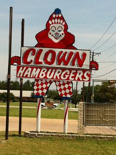 Clown burger sign