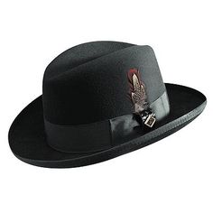 Stacy Adams Feathered Fedora Hat