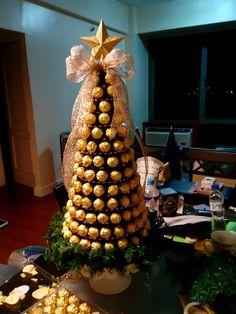 Ferrero rocher christmas tree  masterpiece by Joy and Charms :-)