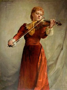 The Violinist. Emma Irlam Briggs (English, 1867-1950). Oil on canvas.Russell-Cotes Art Gallery  Museum. I occasionally play works by contemporary composers for two reasons. First to discourage the composer from writing any more and secondly to remind myself how much I appreciate Beethoven. -- Jascha Heifetz