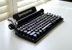 Look at this Qwerkywriter!  An 84 key, USB, mechanical keyboard.  It's brought the tactile feel of the vintage typewriter up to modern days standards. Can even imagine our Ma' Rose doing the accounts on this.  Liking indeed! | Geeky Gadgets