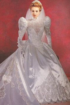 Sissy Likes Clothes, Lingerie, and Fashion 2nd Wedding Dresses, Maggie Sottero Wedding Dresses, Beautiful Wedding Gowns, Bridal Dresses, 1980s Wedding Dress, Gown Wedding, Lace Wedding, Vintage Gowns, Vintage Bridal