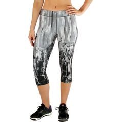 The Reebok® Women's Printed Compression Capris - city design