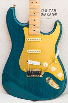 2002 Fender USA Stratocaster Green Nitro Limited Edition. With Graphtech saddles, gold hardware, Texas Specials in neck and mid, JB JR in the bridge, Earvana nut, Locking tuners, Roller string trees, straplocks, silent springs, shielding