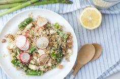 Quinoasalade met groene asperges en kikkererwten