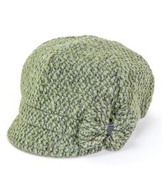 Look what I found on #zulily! Green Bow Newsboy Cap by Tickled Pink #zulilyfinds