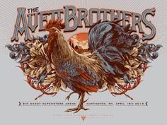 The Avett Brothers WV Concert Poster by Ken Taylor