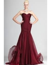 maroon mermaid prom dress