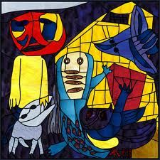 Karel Appel- his work is ideal for stained glass