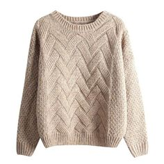 Womens Knit Sweater, Chunky Cable Knit Sweater, Sweater And Shorts, Cropped Sweater, Pullover Sweaters, Brown Sweater, Women's Sweaters, Boyfriend Sweater, Jumper Shirt
