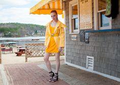 The Red Hand Hello Yellow! - Adrienne Landau jacket, Zara dress, Carvalho of Brazil belt