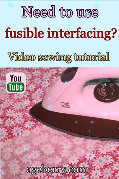 How to fuse interfacing - tips and tricks - Ageberry: helping you succeed in sewing Easy Sewing Patterns, Easy Sewing Projects, Sewing Projects For Beginners, Sewing Tutorials, Sewing Hems, Sewing Elastic, Tips And Tricks, Free Sewing, Hand Sewing