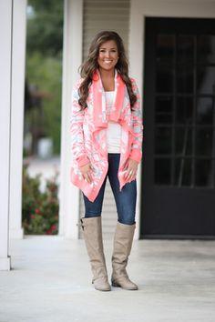 Tletl Aztec Cardigan - Neon Pink | Hazel & Olive--- in love with this sweater/cardigan!!! LOVEEEE