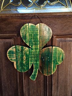 Rustic Shamrock reclaimed wood St. Patrick's Day by AlmaBoheme