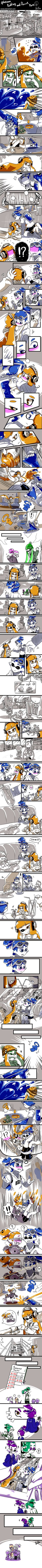 [Splatoon]  Pudding and Donut long comic part6 by zzoza