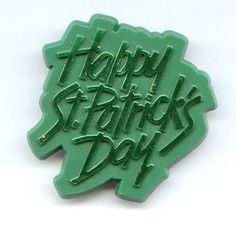 Vintage AGC American Greeting Cards HAPPY ST. PATRICKS DAY Plastic Brooch Pin $12.95