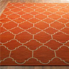 Moroccan Tile Dhurrie Rug: 4 Colors - great site for inexpensive rugs & lighting