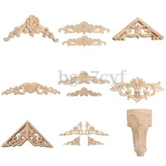 $2.49 AUD - Rubber Wood Carved Corner Onlay Applique Carving Decor Furniture Craft Unpainted #ebay #Home & Garden