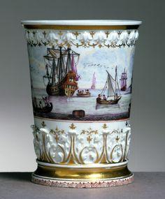 Meissen Porcelain Manufactory (Germany) —   Beaker;, 1725 30.jpg (2843×3443)