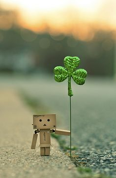Patrick's day from Danbo. Danbo, Miss Piggy, Box Robot, Amazon Box, Smile Wallpaper, Cute Box, Happy St Patricks Day, Little Boxes, Lucky Charm