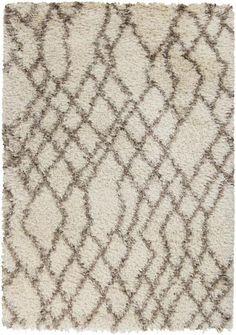 Rhapsody Ivory Mocha Polyester Fabric Area Rug (L 96 X W 60)