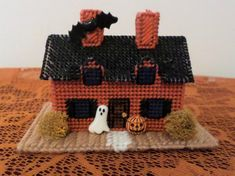 Your place to buy and sell all things handmade Halloween Village, Halloween Haunted Houses, Halloween House, Village Houses, Embroidery Thread, Goth, Miniatures, Buy And Sell, Holiday