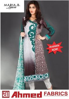 Maria_B Lawn Spring/Summer Collection 2015  Available at Ahmed Fabrics Faisal Town Branch, Shadbagh Branch,Shahdra Branch, Baghbanpura branch & Wapda Town, Lahore. Limited Offer Tel: 0423-5162002