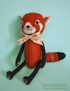 red panda doll