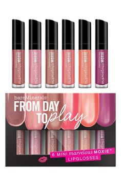 bareMinerals® Mini Moxie Day to Play Lipgloss Set...great shades!