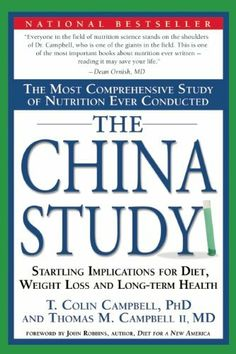The China Study: The Most Comprehensive Study of Nutrition Ever Conducted And the Startling Implications for Diet, Weight Loss, And Long-term Health by T. Colin Campbell, http://www.amazon.com/dp/1932100660/ref=cm_sw_r_pi_dp_jzrTrb03KVE1F