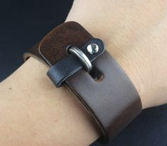 Leather Bracelets – Real Leather Bracelet Wristband Handcuff Men Women – a unique product by mailtown on DaWanda