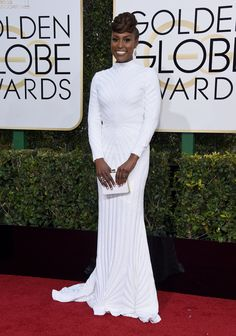 """Issa Rae, nominee for Best Performance by an Actress in a Television Series (Musical or Comedy) for her role in """"Insecure."""""""