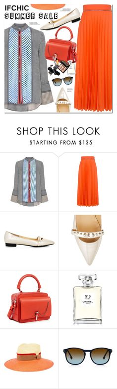 """""""SUMMER & SALE AT WWW.IFCHIC.COM"""" by oshint ❤ liked on Polyvore featuring 10 Crosby Derek Lam, Karen Walker, Eugenia Kim, Carven, Chanel, Saloni, Steven Alan, summersale and ifchic"""